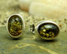 Orecchini di lusso con gemme naturali verdi ambra