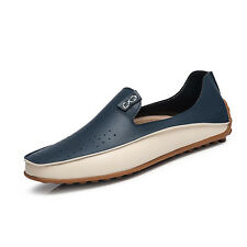 Fashion Loafer Men's Comfy Leather Flats Driving Moccasin Loafers Casual Shoes