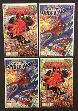AMAZING SPIDER-MAN #1 DEADPOOL #1 Comic Books 2 Copies Each Never Read NM Marvel