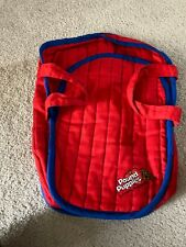 Vintage 80s TONKA Pound Puppies Red Puppy Carrier Backpack Dog Bed 1985 / 1986