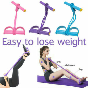 Home Sport Equipment Fitness Elastic Sit Up Pull Tension Rope Abdominal Exercise