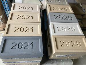 Cast Stone Date Stone 2021, 2020