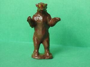 PIXYLAND F KEW VINTAGE PRE WAR LEAD ZOO SERIES RARE STANDING BROWN BEAR