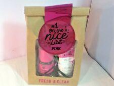 Victoria's Secret PINK FRESH & CLEAN Body Mist & Lotion Gift Set