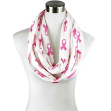 Breast Cancer Awareness Pink Ribbon Infinity Scarf