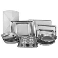 Bakeware Set Stainless Steel Non-Stick Pizza Pan Sheet Bake Cake 12-pc Kitchen