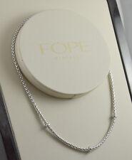 FOPE splendida collana oro bianco e brillanti calibro 3