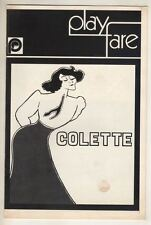 "Zoe Caldwell & Barry Bostwick   ""Colette""   Playbill  1970   Holland Taylor"