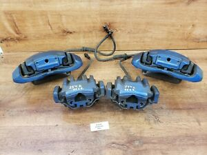 ✅ 08-13 OEM BMW M3 E-Series Left Right Front Rear Brake Calipers SET Blue