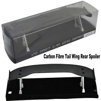 Carbon Fibre Tail Wing Rear Spoiler for 1/10 RC Drift Car On-Road Racing Upgrade
