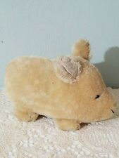 Vintage mohair pig with working squeaker