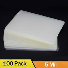 100 5 Mil Thermal Laminator Laminating Pouches Letter Size Clear 9x115 Sheets