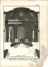 Stampa antica LAVORAZIONE LEGNO Pl 6 Enciclopedia Diderot 1790 Old antique print
