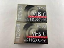Maxell TC 30 VHS-C HGX Gold Tape Set Of 2