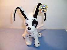 NEOPETS - SPOTTED GELERT - BLACK / WHITE DOG - Plush  Rare - EX. NWT