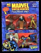 "MARVEL SUPER HEROES FIGURINE SET Comics Applause X-Men 3"" 1997 Vintage Action"