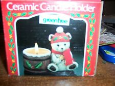 "GREENTREE ""Christmas Mouse"" Ceramic Candle Holder"