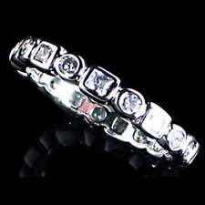 Geometric Brilliant Clear Cz Eternity Band Toe Ring_Size-4_925 Sterling Silver