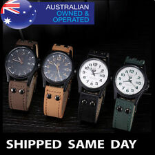 Stainless Steel Case Adult Military Round Watches