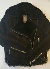 Bnwt Allsaints Ashton leather Shearling biker jacket.uk 6(6-8)black. £798*OFFER*