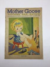 Mother Goose Pictures & Rhymes Ruth E Newton-Linen Like Book