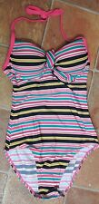 New womens Swimsuit Pink/Multi Stripe size 32C