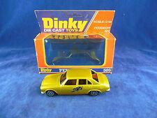 Escaso Dinky Toys 505 Peugeot 504 en oro con calcomanía de Pantera Hecho En Francia