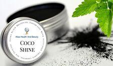 Whitening Tooth Powder Peppermint Activated Coconut Charcoal UK MADE**