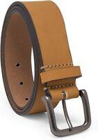 Timberland Men's 35 MM Classic Jean Leather Belt Wheat