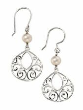 Silver Freshwater Pearl Drop Earrings with Giftpouch