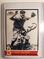 2001 Fleer Red Sox 100th Bobby Doerr IP Auto Autograph Card Signed #43 D-2017