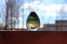 Two Color Pill Thunder Ball Glass Art Sculpture, Timo Sarpaneva Finland Iittala