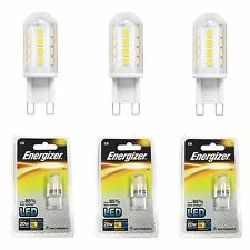 3 Pack Energizer 2w=20w G9 Fitting Capsule LED Energy Saving Light Fitting Bulbs