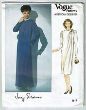 Vogue #1117 American Designer Jerry Silverman  A-line Dress Pattern Sz 14 UC