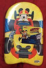 "Mickey Mouse Roadster Kick Board Beach Pool Water Swim Training Toy 17"" Float"