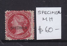 South Australia: 2/ Side Face Ov/Pr Specimen, A Rare Stamp In Mh Condition