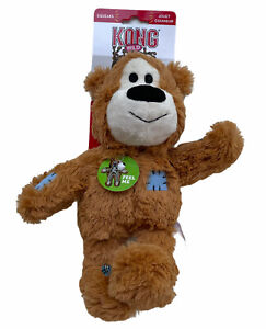 Kong Wild Knots Bear Dog Toy Brown Internal Knotted Rope Skeleton S/M