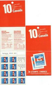 1989 Canada SC# BK 112-Flag, perforation 13 1/2 x 13-booklet of 10-M-NH