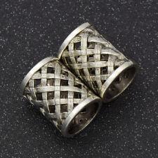 Vintage Dreadlock Beads Hair Braid Dread Tibetan Viking Ring Weave Tubes 2pcs