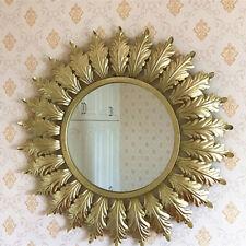 Large Antique Light Gold Sunburst Metal Wall Mirror Decorative Wall Mirror H80cm