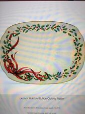 Lenox Holiday Ribbon Oblong Platter
