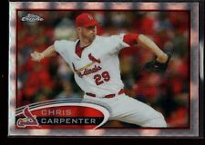 CHRIS CARPENTER CARDINALS MINT XFRACTOR RARE SP 2012 TOPPS CHROME REFRACTOR #17
