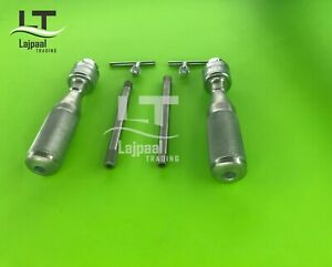 Hand Drill Chuck 16cm Stainless Steel Orthopedic Instruments 2 Pcs Set A+