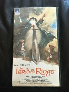 Lord Of The Rings Pre Cert Video Thorn E.M.I  VHS