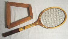 """Vintage Sears Roebuck DeLuxe Ted Williams Tennis Racket & Press - 4-5/8"""" Medium"""