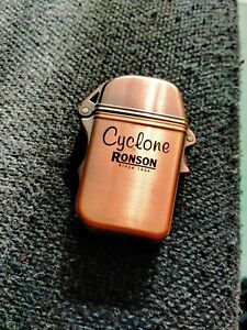 RONSON CYCLONE PETROL LIGHTER COPPER LIKE FINISH