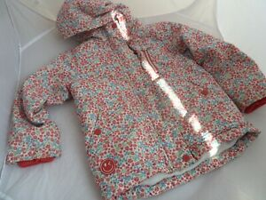 Next Floral Hooded Winter Coat / Jacket girls size 6 years
