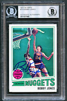 Bobby Jones #118 signed autograph auto 1977-78 Topps Basketball Card BAS Slabbed
