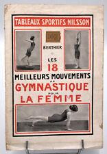Tableaux Sportifs Nilsson, GYMNASTIQUE POUR LA FEMME - Berthier