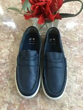 Cole Haan Nantucket Riverside Men's Blue Leather Sz 7M Loafers EUC, MSRP $130